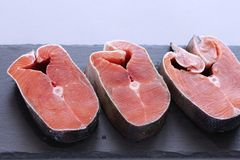 Red fish for cooking hot dishes stock photos