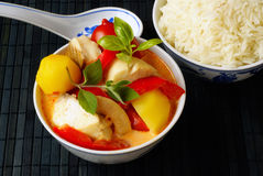 Red fish curry Royalty Free Stock Photo