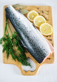 Red fish and fennel Royalty Free Stock Image