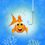 Red fish. Funny illustration of red fish Royalty Free Stock Photos