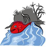 Red fish illustration Stock Photos