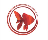 Red fish KOI. Illustration and graphic image for you wallpaper and background lucky character Royalty Free Stock Photography
