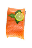 Red fish with lime Royalty Free Stock Images