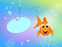Red fish in the ocean. Illustration of red fish in the ocean Stock Photo