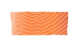 Red fish salmon for sushi food menu vector illustration Isolated white background. On white background Stock Photo