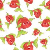 Red fish seamless Stock Photo