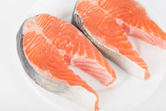 Red fish steak Stock Images