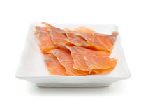 Red fish on white plate. Stock Photography