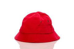 Red fisherman hat Stock Photography