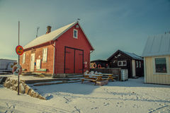 Red fisherman's house Stock Photography