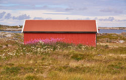 Red fisherman's hut Royalty Free Stock Photography