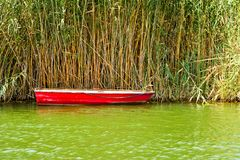 Red Fishing Boat Royalty Free Stock Photos