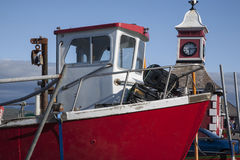 Red Fishing Boat, Valentia Island Stock Photos