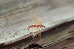 Red fishing fly Royalty Free Stock Photos