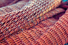 Red fishing net Stock Photography