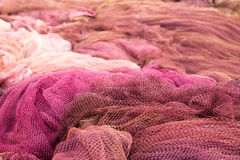 Red fishing nets Royalty Free Stock Photography