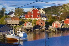 Fishing town of Reine Stock Images