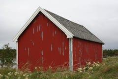 Red fishing shack Royalty Free Stock Image