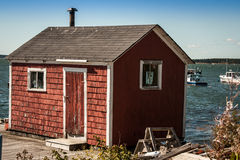 Red fishing shack Royalty Free Stock Images