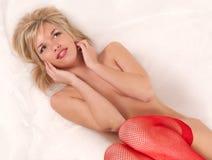 Red fishnet Stock Photo