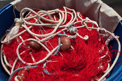 Red Fishnet Royalty Free Stock Photography