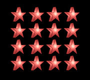 Red five pointed star Stock Image