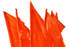 Red flag fluttering on a wind isolated Stock Photography