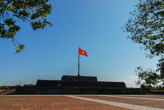 Red Flag, Hue, Vietnam Stock Image