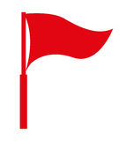 Red flag isolated icon design Stock Images