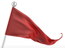 Red Flag. Isolated on a white background. 3d render Royalty Free Stock Images