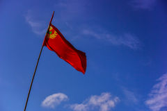 Red flag at Langkawi Island Royalty Free Stock Photography