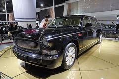 Red-Flag limousine. Chinese brand Red-Flag luxury limousine in its exhibition hall,in 2010 international Auto-show GuangZhou. it is from 20/12/2010 to 27/12/2010 Royalty Free Stock Image