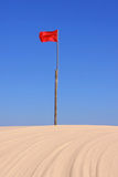 Red flag marker Stock Photography