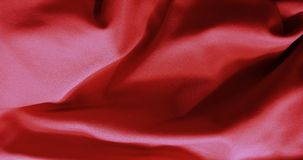 Red flag pattern on the fabric texture Royalty Free Stock Photography