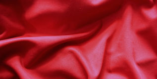 Red flag pattern on the fabric texture ,vintage style Royalty Free Stock Photography
