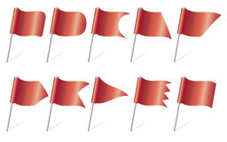 Red flag pins – Illustration Royalty Free Stock Photo