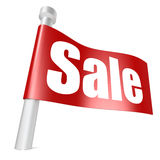 Red flag sale Royalty Free Stock Photo
