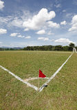 Red flag on a Soccer field Stock Photo
