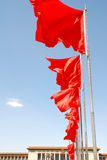The red flag on the square. The red flag on Tiananmen Square stock photography