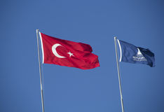 National flag of turkey  Royalty Free Stock Image