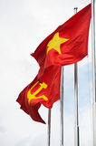 Red flags of the Communist Party of Vietnam and of Vietnam Royalty Free Stock Photography