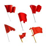 Red flags, icon set Royalty Free Stock Photography