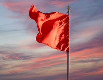 Red flags on the Tiananmen Square -- Beijing, China Royalty Free Stock Image