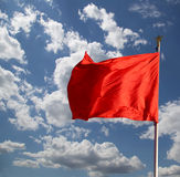 Red flags on the Tiananmen Square -- Beijing, China Stock Photography
