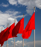 Red flags on the Tiananmen Square -- Beijing, China Royalty Free Stock Photo