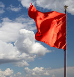 Red flags on the Tiananmen Square -- Beijing, China Stock Image