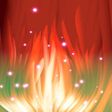 Red Flame. Abstract background like as red sparkle tongues with sparks Stock Images