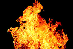 Red flame on the black background Royalty Free Stock Photography