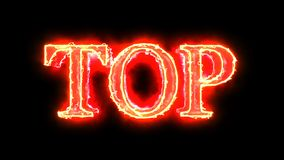 Red flame energy Top word overlay 4k 3D animation stock footage