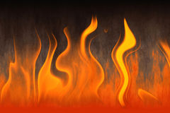 Red flame of fire with smoke Royalty Free Stock Images